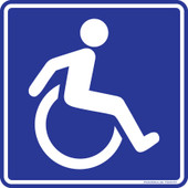 "6 x 6"" Handicap Wheelchair Logo Sticker Decal"