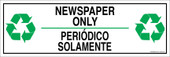 "4 x 12"" Newspaper Only Bilingual Sticker Decal"