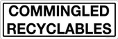 "4 x 12"" Commingled Recyclables Sticker Decal"