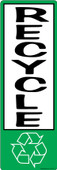 """4 x 12"""" Vertical Recycle Sticker Decal"""