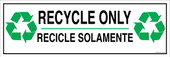 """6 x 18"""" Recycle Only Bilingual Sticker Decal"""