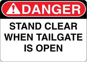 Danger Decal Stand Clear When Tailgate Is Open Sticker