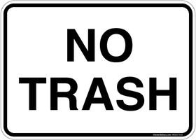 Sticker.  No Trash Decal.