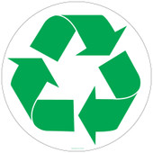 12 Inch Recycling Symbol Sticker