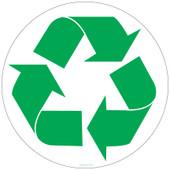 12 Inch Recycling Symbol Sticker