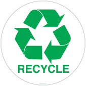 12 Inch Circle Recycling Sticker