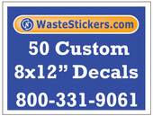 50 Custom Vinyl Decals 8 x 12 Inches