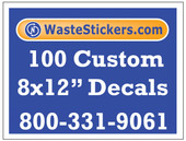 100 Custom Vinyl Decals 8 x 12 Inches