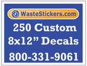250 Custom Vinyl Decals 8 x 12 Inches