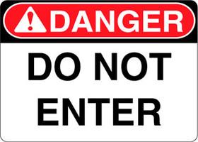 Danger Decal Do Not Enter Sticker