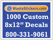 1000 Custom Vinyl Decals 8 x 12 Inches