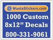 1000 Custom Vinyl Decals 8 x 12 Inches