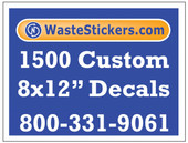 1500 Custom Vinyl Decals 8 x 12 Inches