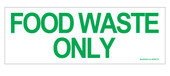 Food Waste Only Recycling Sticker Decal