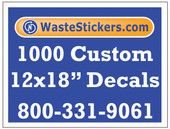 1000 Custom Vinyl Decals 12 x 18 Inches