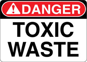 Danger Decal Toxic Waste Sticker