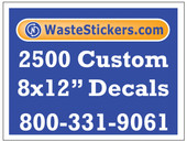 2500 Custom Vinyl Decals 8 x 12 Inches