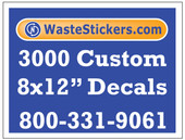 3000 Custom Vinyl Decals 8 x 12 Inches