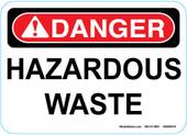 """5 x 7"""" Danger Hazardous Waste Sticker Decal"""