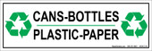 Cans Bottles Plastic Paper Recycling Sticker