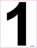 "3"" Inch Tall Black Vinyl Numbers"