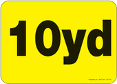 10 yard container decal