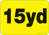 """5 x 7"""" 15 Yard Roll-Off Container Decal"""