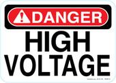 """5 x 7"""" Danger High Voltage"""