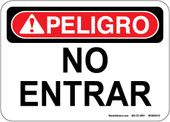 "5 x 7"" Danger Peligro No Entrar (Spanish) Decal"