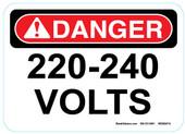 """5 x 7"""" Danger 220 240 Volts Sticker Decal"""