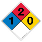 "12"" Hazard Rating Diamond Decal"