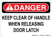 "5 x 7"" Danger Keep Clear Of Handle"