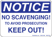 "5 x 7"" Notice No Scavenging Decal"
