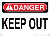 "5 x 7"" Keep Out Decal"