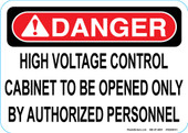 "5 x 7"" High Voltage Control Decal"