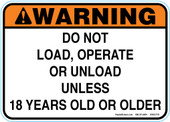 "5 x 7"" Warning Do Not Load Decal"