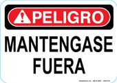 "5 x 7"" Peligro Mantengase fuera Decal"