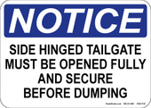 "5 x 7"" Notice Side Hinged Tailgate Decal"