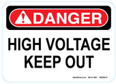 "5 x 7"" Danger High Voltage Keep Out Sticker Decal"