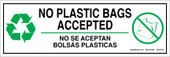 """4 x 12"""" No Plastic Bags Accepted Decal"""