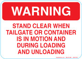 "5 x 7"" Warning Stand Clear Decal"