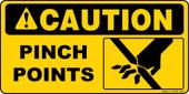 """6 x 12"""" Caution Pinch Points"""