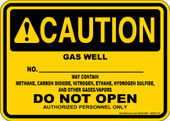 """5 x 7"""" Caution Gas Well Decal"""
