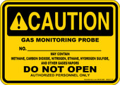 "5 x 7"" Caution Gas Monitoring Probe Decal"
