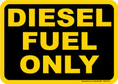 "5 x 7"" Diesel Fuel Only Decal"