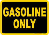 "5 x 7"" Gasoline Only Decal"
