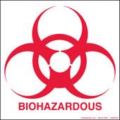 "6 x 6"" Biohazardous Decal"