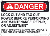 "5 x 7"" Danger Lock Out And Tag Out Decal"