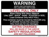 "9 x 12"" Warning Level Full Only, Extra Charges"