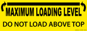 "5 x 14"" Maximum Loading Level Decal"